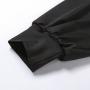 Черный боди с объемными рукавами