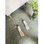 Пудровые босоножки на шпильках с завязками Италия