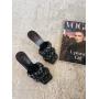 Черные плетеные шлепанцы на шпильках Италия