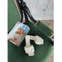 Белые плетеные шлепанцы Италия