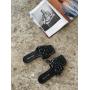 Черные плетеные шлепанцы Италия