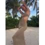 Длинное пляжное платье с вырезами