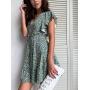 Короткое платье из вискозы Ромашки