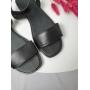 Черные босоножки из натуральной кожи