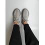 Серые легкие текстильные кроссовки