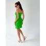 Салатовое льняное платье мини
