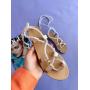 Белые сандалии с завязками Италия