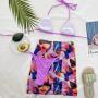 Лиловый купальник с цветной юбкой