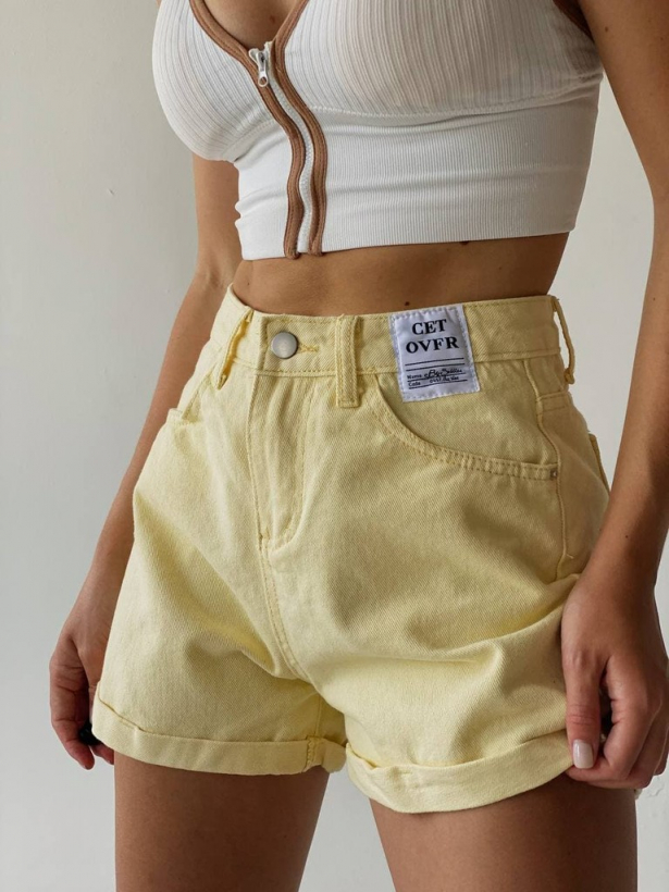 Цветные джинсовые шорты