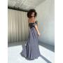 Асимметричное длинное платье с крылышками