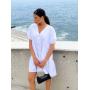 Белое платье парашют из хлопка