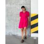Ярко-розовое платье парашют из хлопка