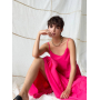 Ярко-розовый сарафан макси из хлопка