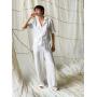 Белый летний костюм брюки палаццо с рубашкой