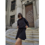 Черный костюм мини юбка и худи