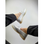 Белые кожаные туфли лоферы с подвеской