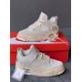 Бежевые высокие кроссовки Nike Jordan Cream