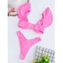 Розовый купальник с крылышками