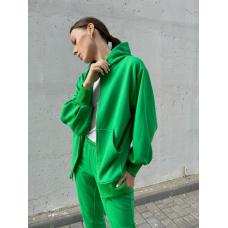 Зеленый спортивный костюм на молнии