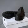Черные кожаные туфли дерби Prada