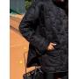 Стеганная черная куртка рубашка волнистый ромб