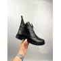 Черные демисезонные ботинки на шнурках
