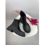 Черные кожаные демисезонные ботинки челси