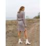 Кашемировое теплое вязаное платье с узорами