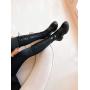 Черные сапоги со шнуровкой по всей высоте Италия