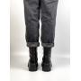 Черные зимние кожаные ботинки с мехом