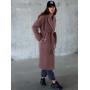 Демисезонное кашемировое пальто халат мокко