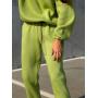 Салатовый теплый спортивный костюм