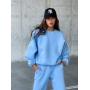 Голубой теплый спортивный костюм