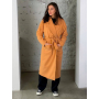 Горчичное демисезонное кашемировое пальто