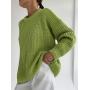 Цветной базовый свитер крупной вязки