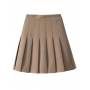 Мини юбка плиссе из костюмной ткани