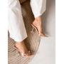 Прозрачные туфли лодочки с бантом из камней Италия
