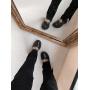 Черные ботинки носки с цепями Италия