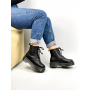 Черные зимние ботинки из зернистой кожи