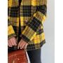 Шерстяной пиджак в желтую клетку