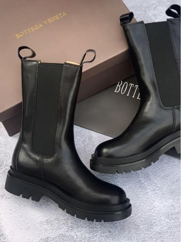 Кожаные ботинки челси BOTTEGA VENETA