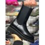 Черные высокие ботинки челси Bottega Veneta