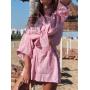 Розовый хлопковый костюм