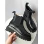 Черные ботинки челси из натуральной кожи