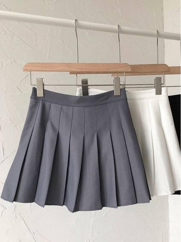 Плиссированная мини юбка