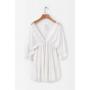 Белое хлопковое платье с кружевом