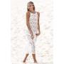 Белая пляжная кружевная туника-платье