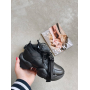 Черные кроссовки с пряжкой Италия