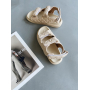 Бежевые стеганные сандалии в стиле Chanel Италия