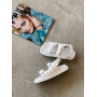 Белые стеганные сандалии в стиле Chanel Италия